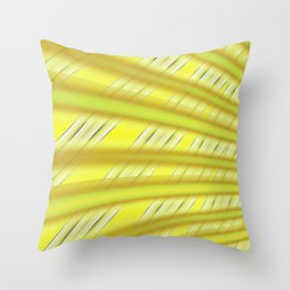 Fractal Play in Citruslicious Throw Pillow
