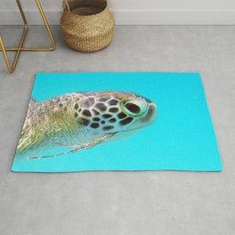 Watercolor Turtle, Green Turtle 15, St John, USVI Rug