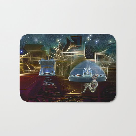 Do aliens get lonely as the lights begin to fade? Bath Mat