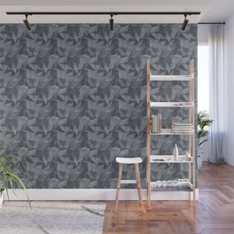 Abstract Geometrical Triangle Patterns 2 Benjamin Moore 2019 Trending Color Hale Navy Blue Gray HC-1 Wall Mural