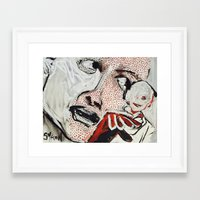 lichtenstein Framed Art Prints featuring Lichtenstein - a Portrait by Helen Syron