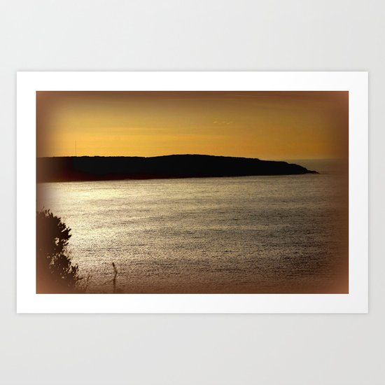 Sunsetting at Portland Art Print