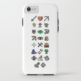 Old School Runescape Skills iPhone Case