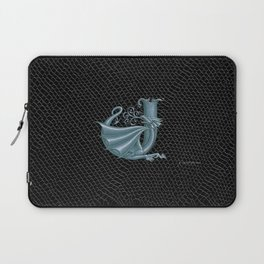"""Dragon Letter J, from """"Dracoserific"""", a font full of Dragons Laptop Sleeve"""