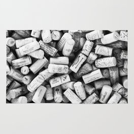 Something Nostalgic II Twist-off Wine Corks in Black And White #decor #society6 #buyart Rug