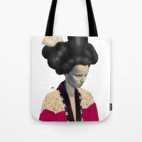 geisha Tote Bags featuring Geisha by Albert Lee