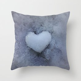 Heart of Ice Throw Pillow