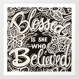 Blessed Is She Art Print