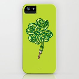 Clover - Make own luck iPhone Case