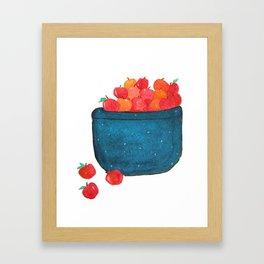 Crab Apple Basket Framed Art Print