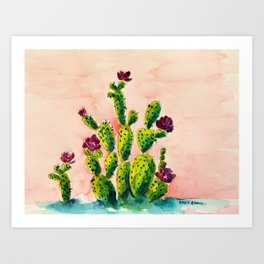 The Cactus Patch Art Print