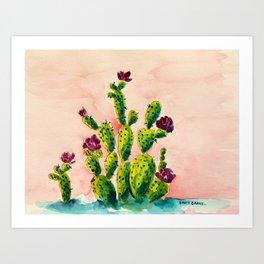 The Cactus Patch Art Print