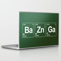 bazinga Laptop & iPad Skins featuring Breaking Bazinga by dutyfreak