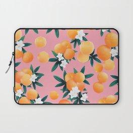 Orange Twist Flower Vibes #4 #tropical #fruit #decor #art #society6 Laptop Sleeve
