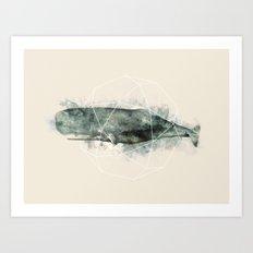 Geo Whale Art Print