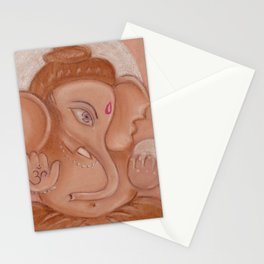 Lord Ganesh beautiful wallpaper by pastel Stationery Cards