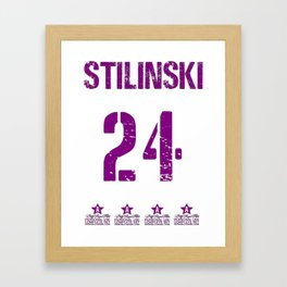 Stiles Stilinski Shirt Dylan O'Brien Shirts Women two sides Ringer Tee T-Shirt Framed Art Print