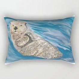 Baby Sea Otter Rectangular Pillow