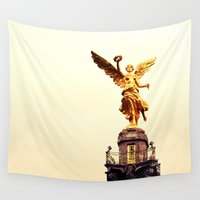 mexico Wall Tapestries featuring Viva Mexico by thirteesiks