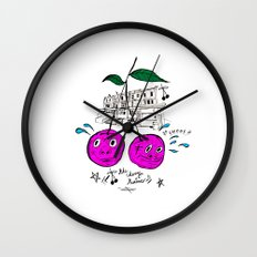 Cherry Twins Wall Clock