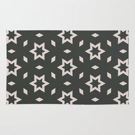 Black and white Stars Pattern Christmas Hollidays Rug