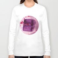 transparent Long Sleeve T-shirts featuring transparent Purple by seb mcnulty