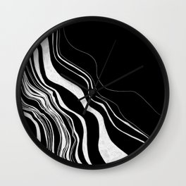 Inverted Topography Line Works  Wall Clock