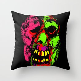 Face from the Crypt Throw Pillow