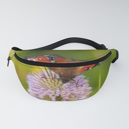 Peacock Butterfly on a Teasel Fanny Pack
