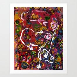 """eruption and rebirth"" Art Print"