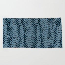 Hand Knit Niagra Blue Beach Towel