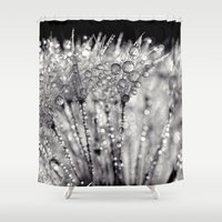 silver Shower Curtains featuring silver by Bonnie Jakobsen-Martin
