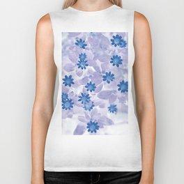 Blue flowers Biker Tank