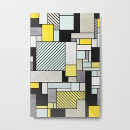 Colorful random pattern Metal Print