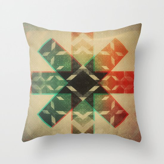 Technicolor Dream-o-Scope Throw Pillow