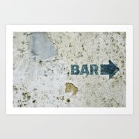bar Art Prints featuring BAR by ollily