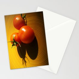 Abstract Tomato Stationery Cards