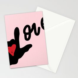 I Love You Love - Pink Stationery Cards