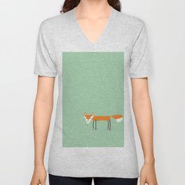 Cute little red fox foxy ladie Unisex V-Neck