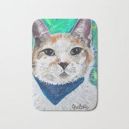 Mr. Peabody Cat Portrait Bath Mat