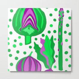 Ultra Violet Vegetables Metal Print