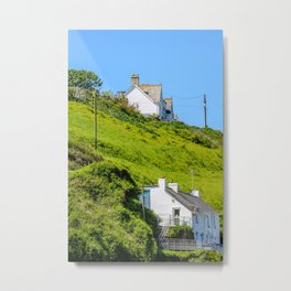 Port Gaverne - Twin Houses Metal Print