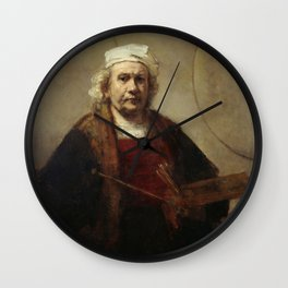 Self-Portrait with Two Circles Wall Clock