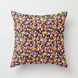 Floral Haze Throw Pillow