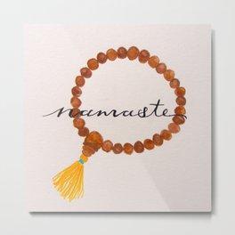 Namaste Prayer Beads Metal Print