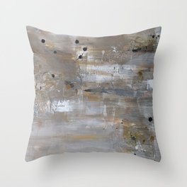 Silver and Gold Abstract Throw Pillow