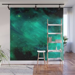 Teal Blue Indigo Sky, Stars, Space, Universe, Photography Wall Mural