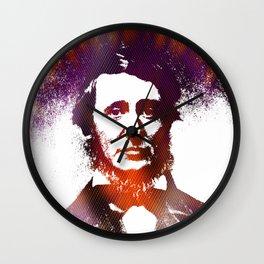 Henry David Thoreau Wall Clock
