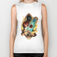 transistor Biker Tanks featuring Like It's Written in the Stars - Transistor by Stephanie Kao