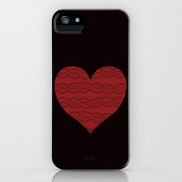 Hearts Woven 05 iPhone Case
